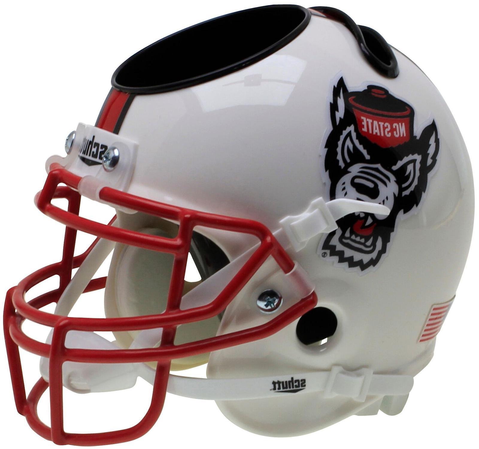 NC STATE WOLFPACK NCAA Schutt Mini Football Helmet DESK CADD
