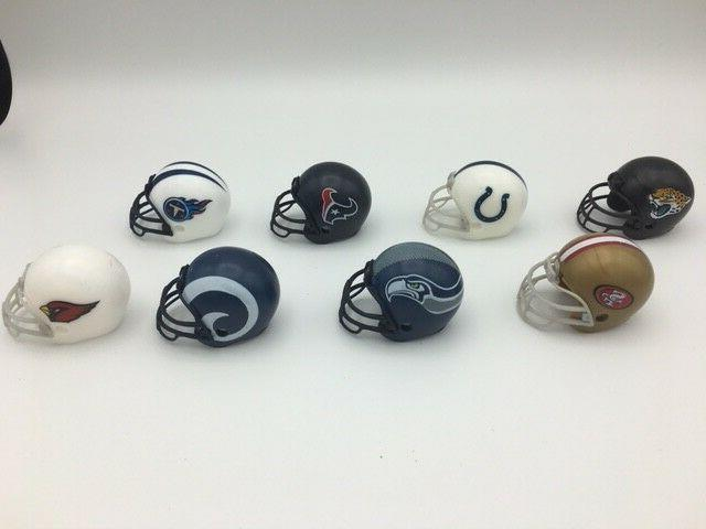 New Logos - 2017 Complete of 32 NFL Mini Helmet Toppers