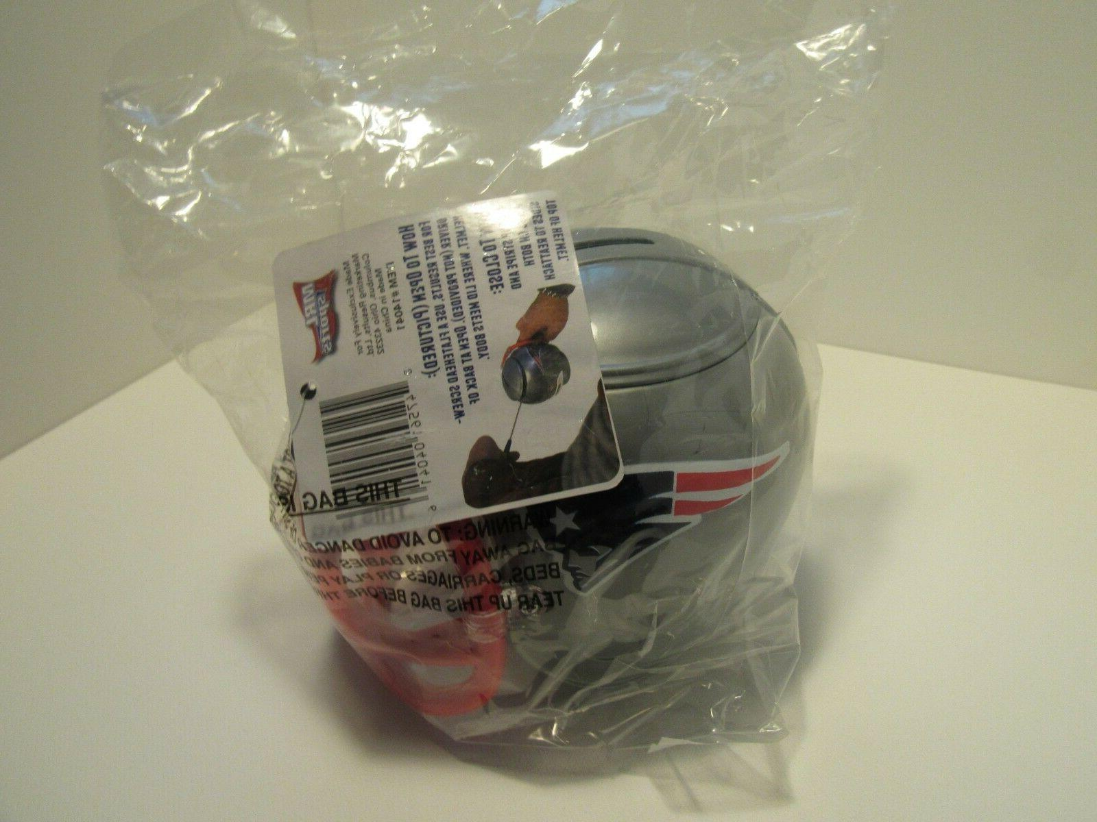 NEW NFL New England Patriots Helmet Bank FanMug Sports