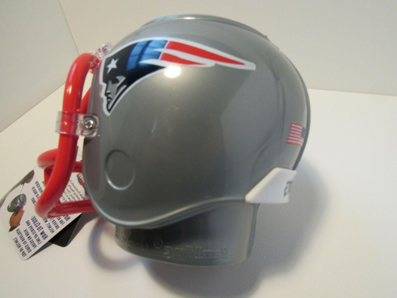 Patriots Mini Helmet Plastic Bank MRL Sports