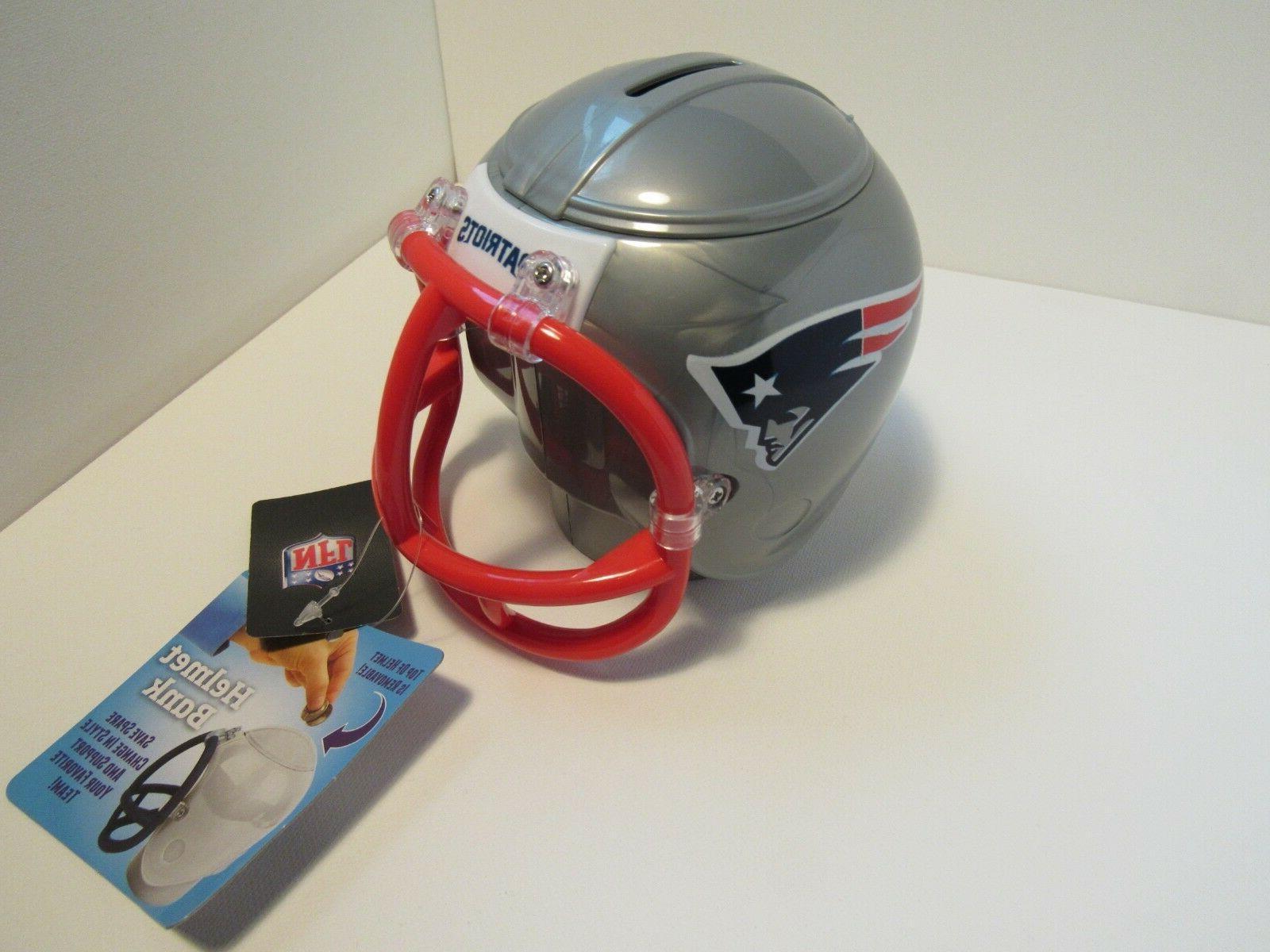 NEW NFL New England Patriots Mini Helmet Plastic Bank by Fan