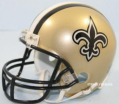 NEW SAINTS Riddell VSR4 Mini Helmet