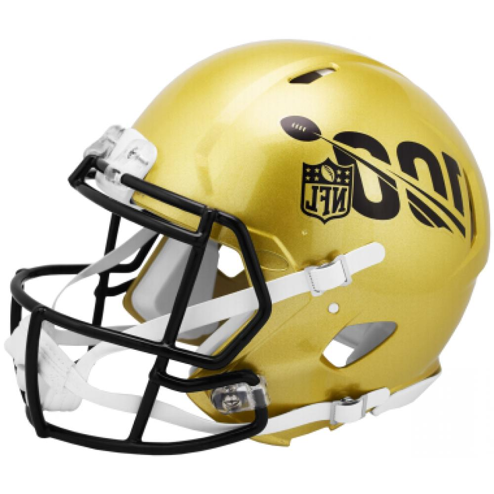 nfl 100 speed football mini helmet gold