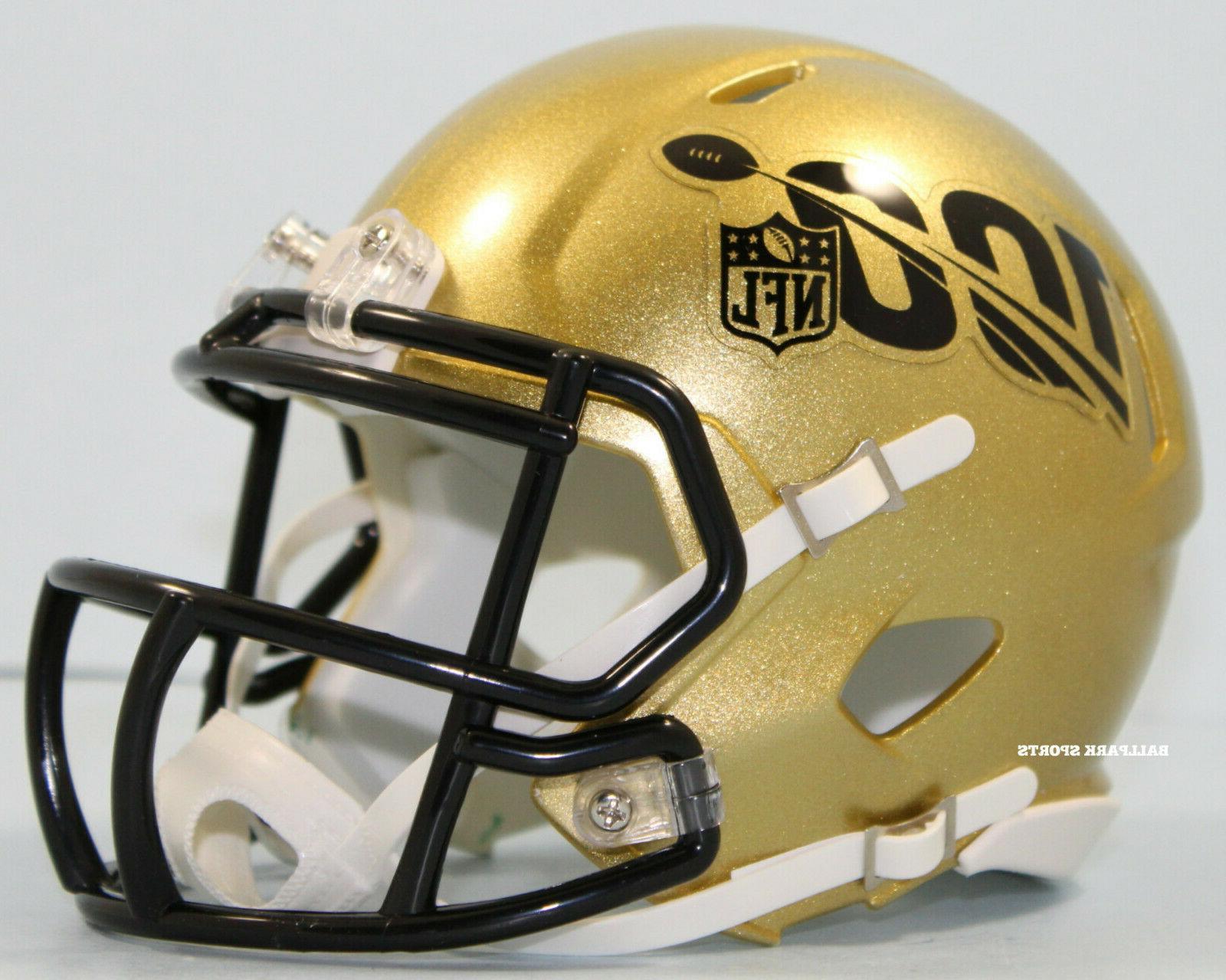 NFL 100th Season Gold Riddell Speed Mini