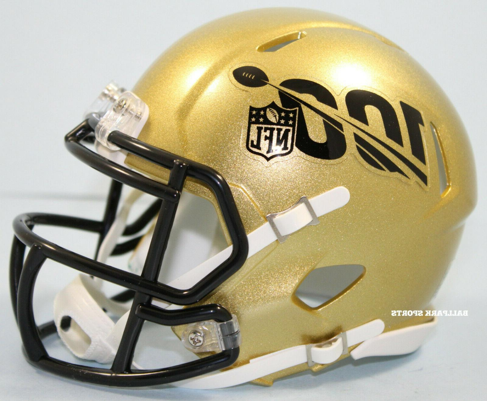 nfl 100th season gold speed mini helmet