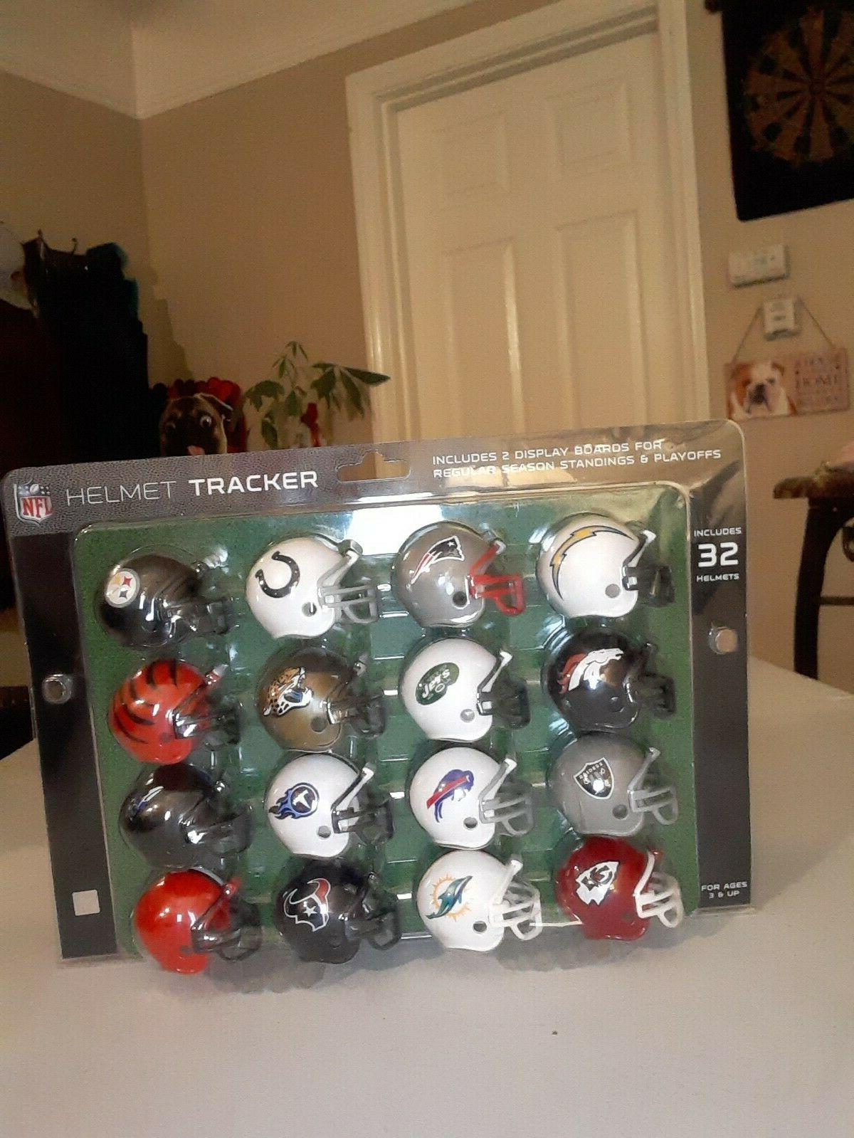 NFL All 32 Novelty Sports Helmet Tracker