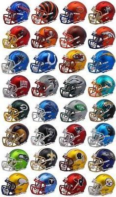Riddell NFL Blaze Alternate Speed Mini Helmet Complete Set -