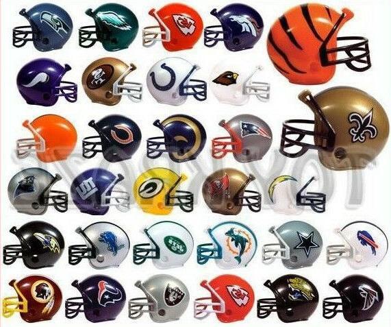 nfl collectible mini football helmet set complete