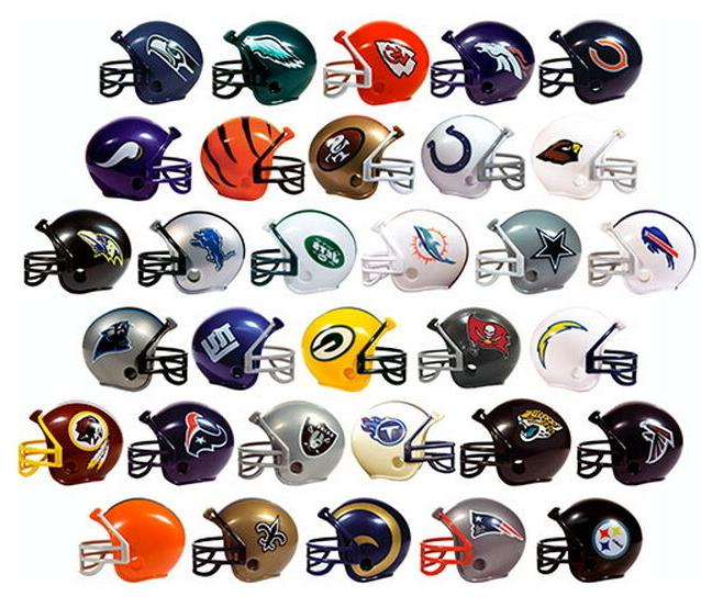 nfl collectible mini helmets set