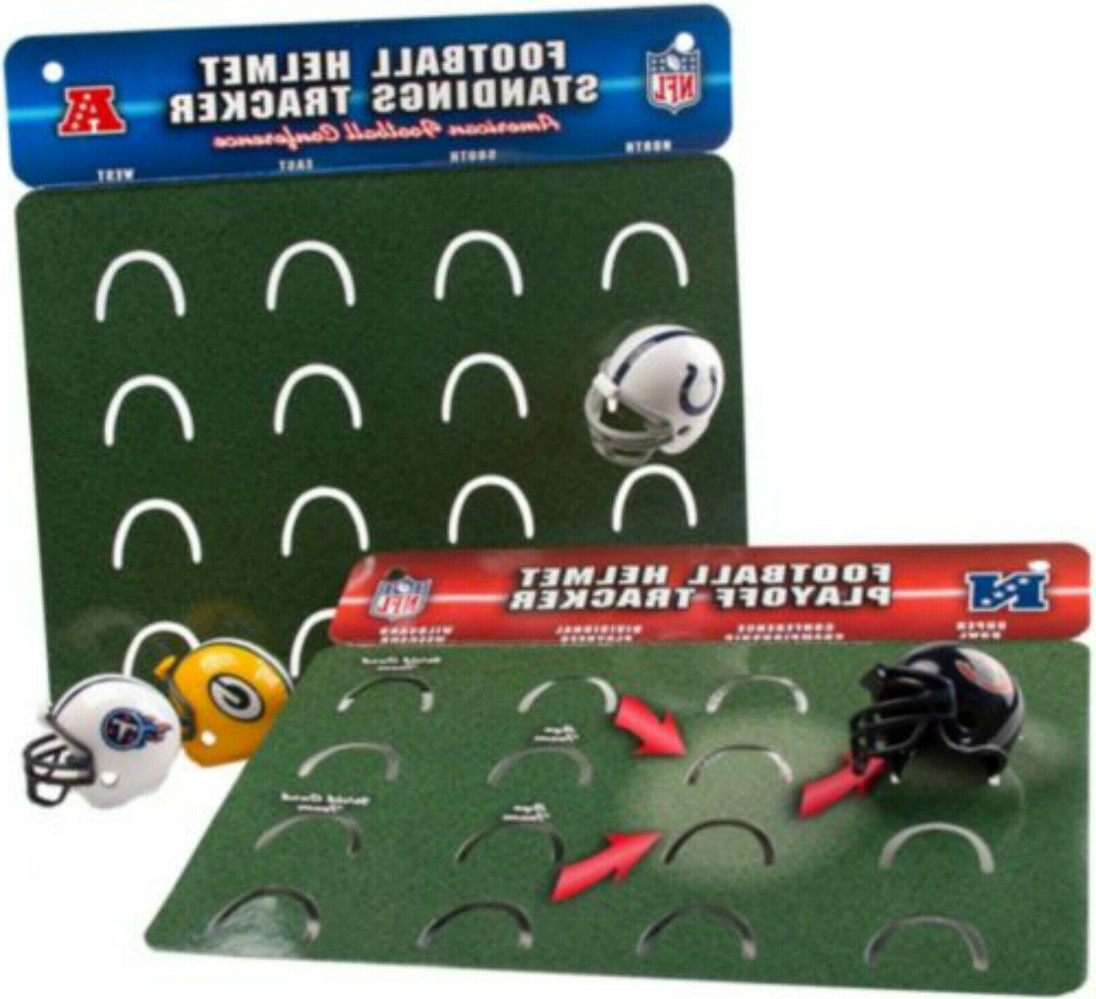 NFL Mini Football AFC Super NFC Playoff Tracker