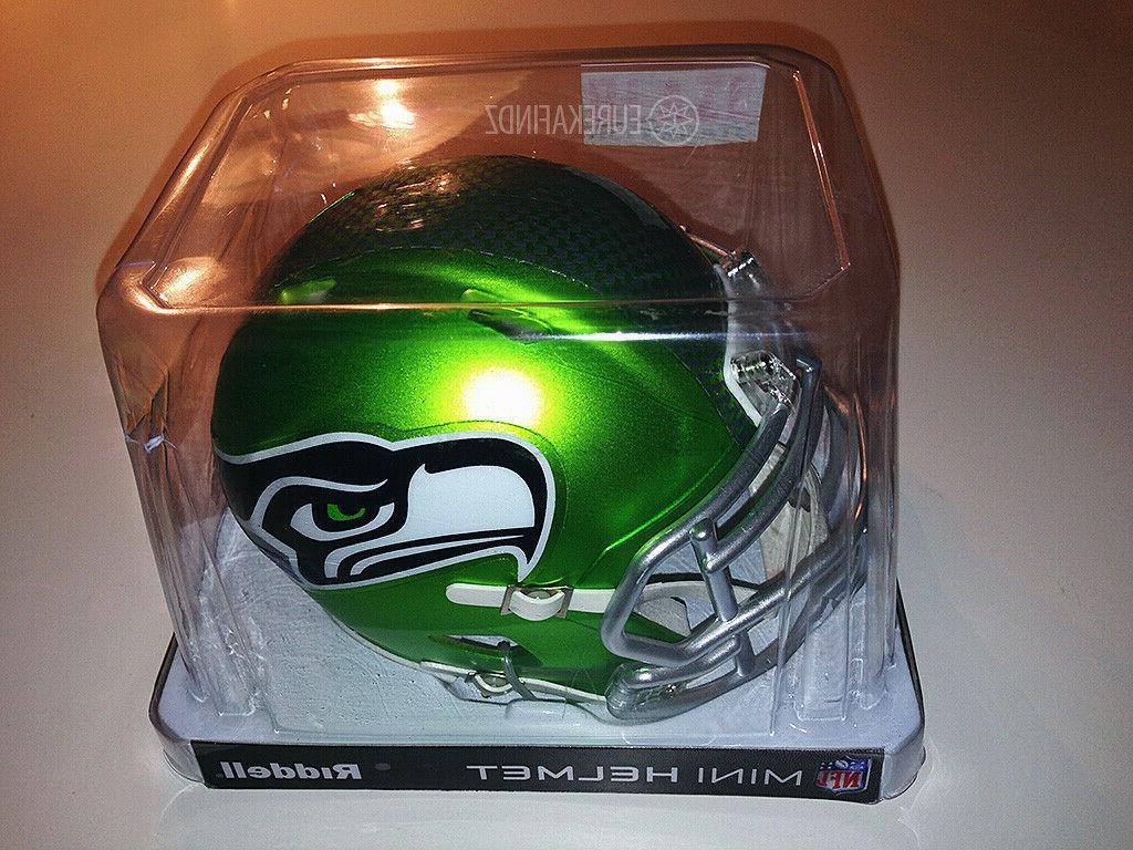 Riddell Seahawks Alternate Blaze Helmet Green