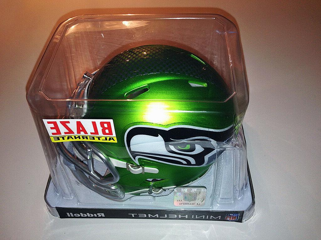 Riddell NFL Seattle Alternate Blaze Helmet Green