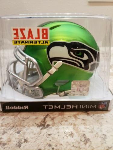 nfl seattle seahawks blaze mini helmet