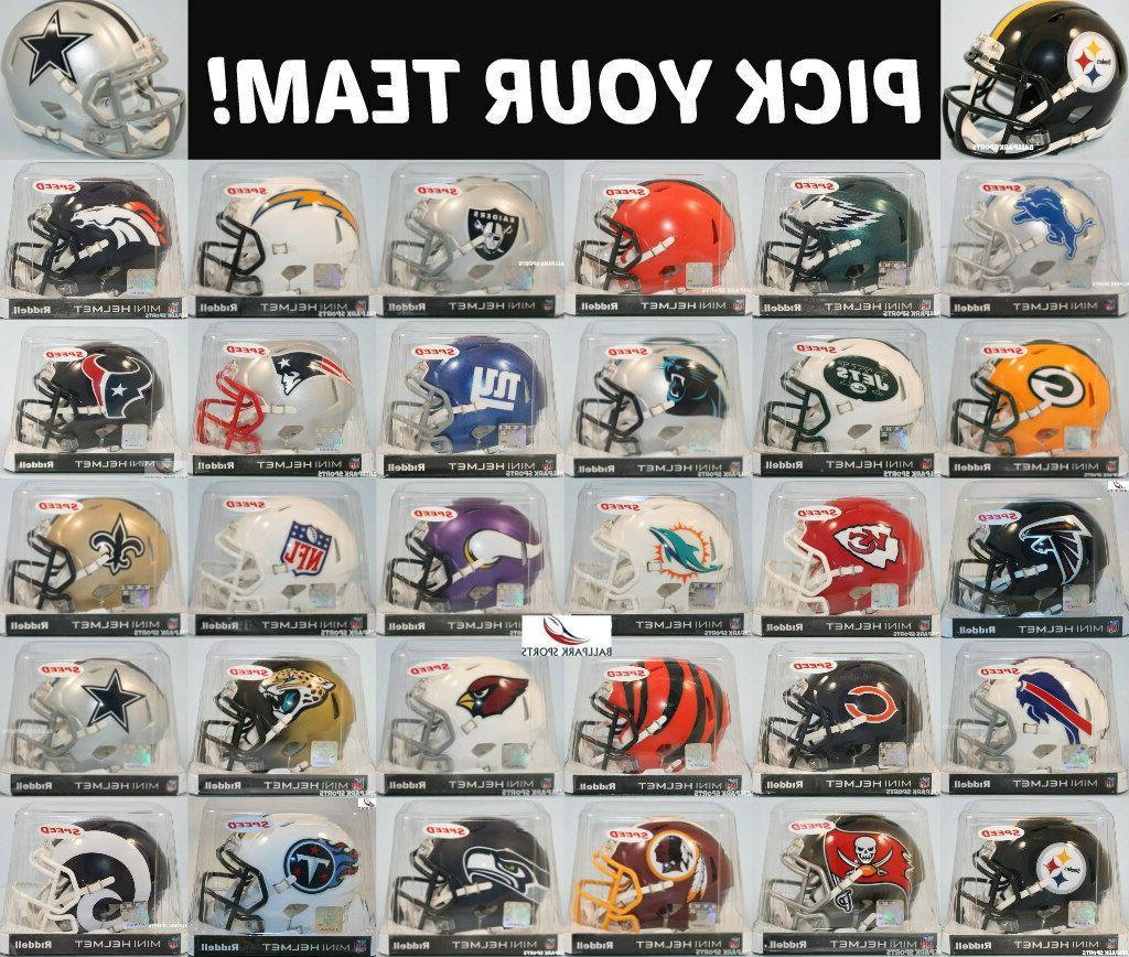 nfl speed mini helmet pick your team
