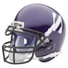 northwestern wildcats mini helmet