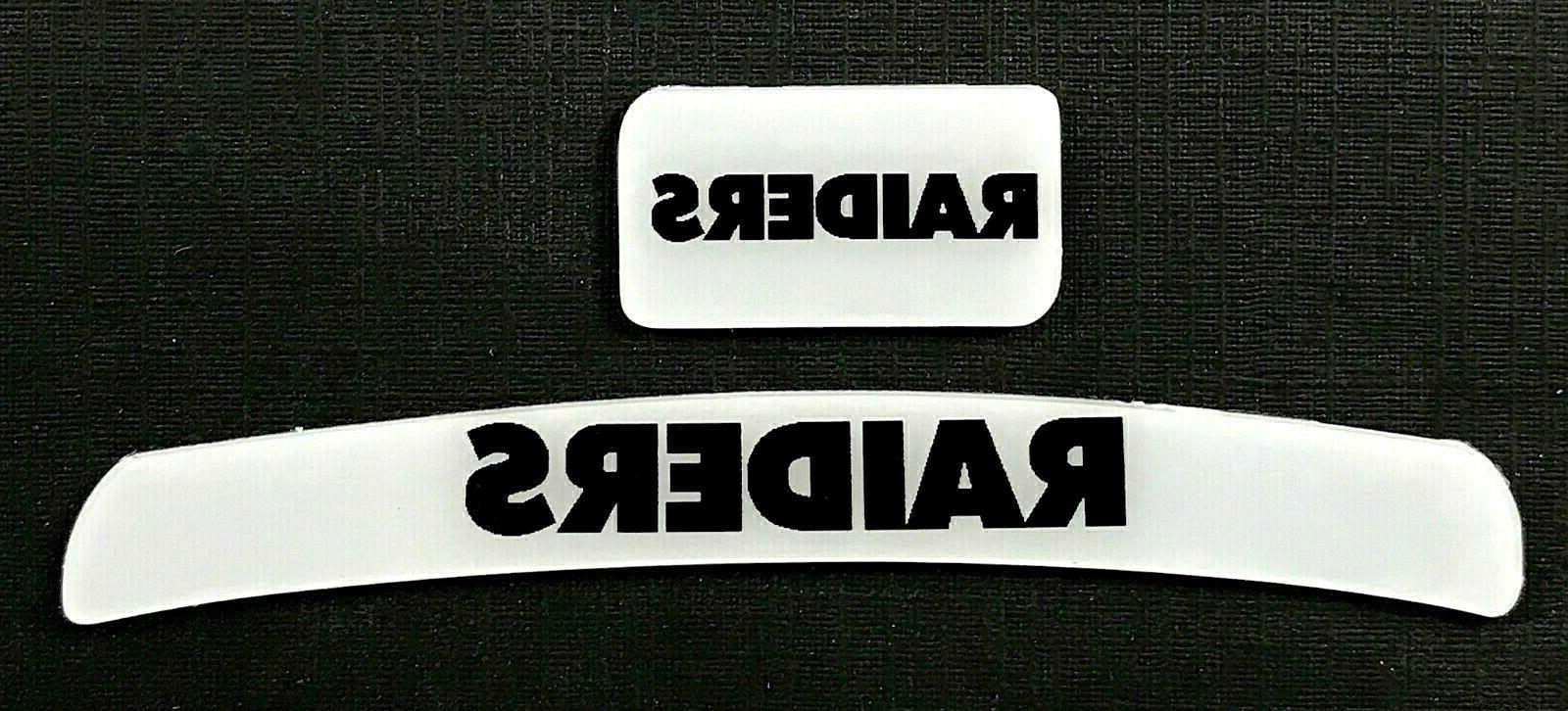 oakland raiders mini helmet decal set