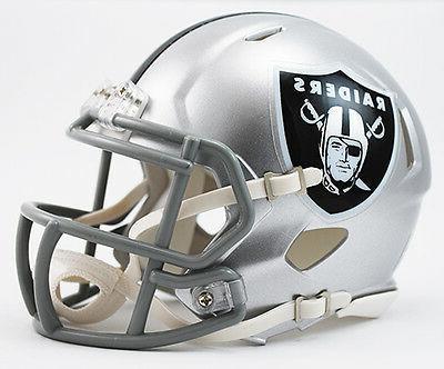 oakland raiders speed football mini helmet new