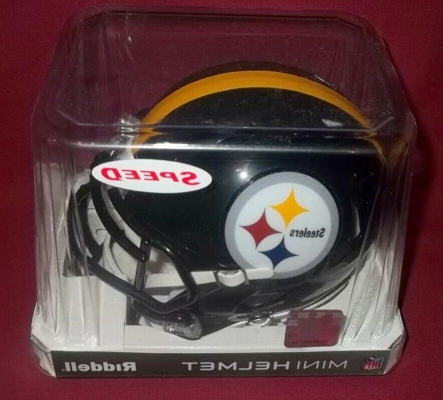 pittsburgh steelers speed football mini helmet sealed