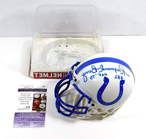 raymond berry autographed signed mini