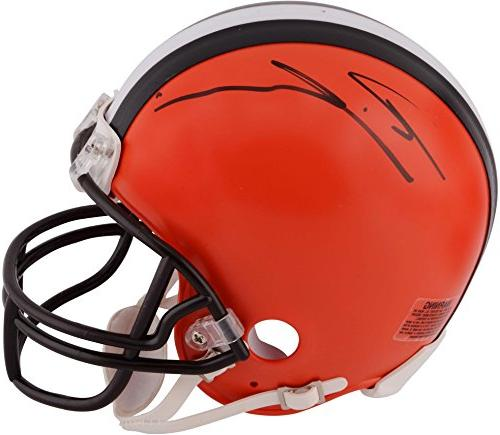 ricardo louis cleveland browns autographed riddell mini
