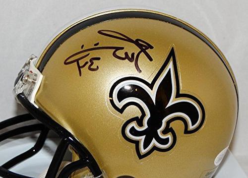 Ricky Autographed Orleans Saints Helmet- JSA Witnessed