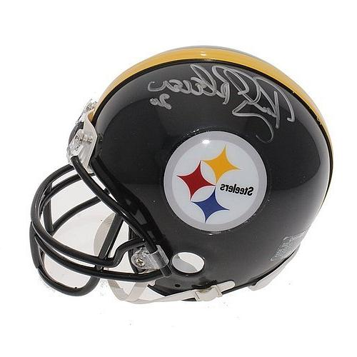 rocky bleier autographed signed pittsburgh steelers mini