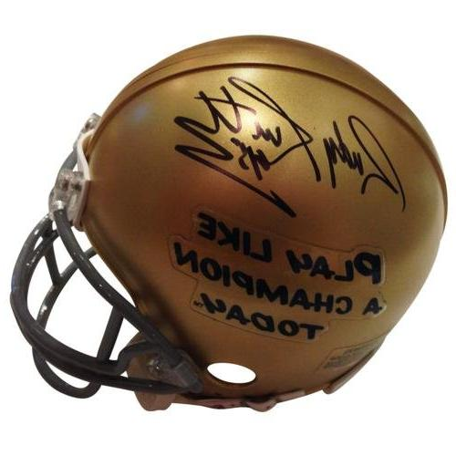 rudy ruettiger autographed notre dame
