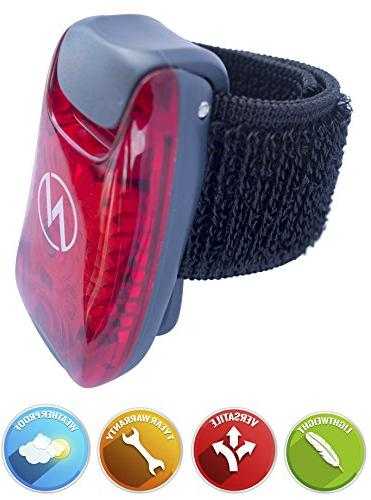 LED Safety Free Bonuses Clip On Strobe/Running Runners, Visibility Your Reflective Gear, Bicycle More!
