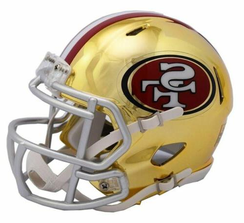 San Francisco 49ers Helmet Riddell Replica Mini Speed Style