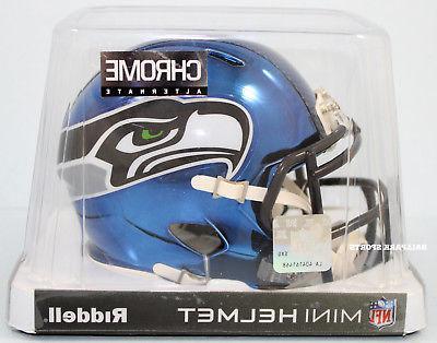 seattle seahawks chrome alternate speed mini helmet