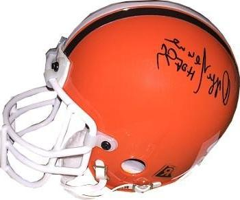 signed ozzie newsome helmet riddell authentic mini