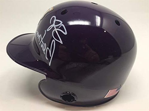 Skip Autographed LSU Mini Helmet Beckett