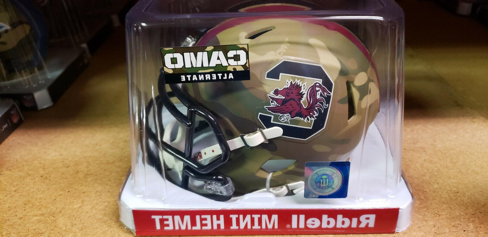 south carolina gamecocks camouflage replica mini helmet