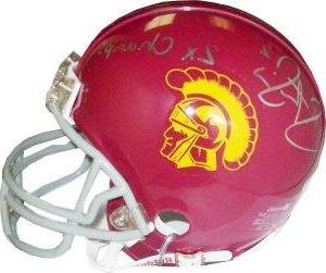 steve smith signed mini helmet usc trojans