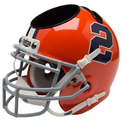 syracuse orange mini helmet desk caddy