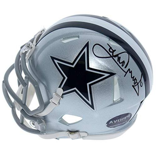 tony dorsett dallas cowboys autographed signed riddell