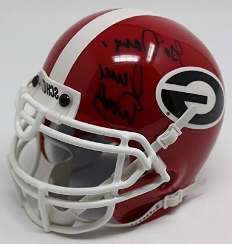 vince dooley signed mini helmet