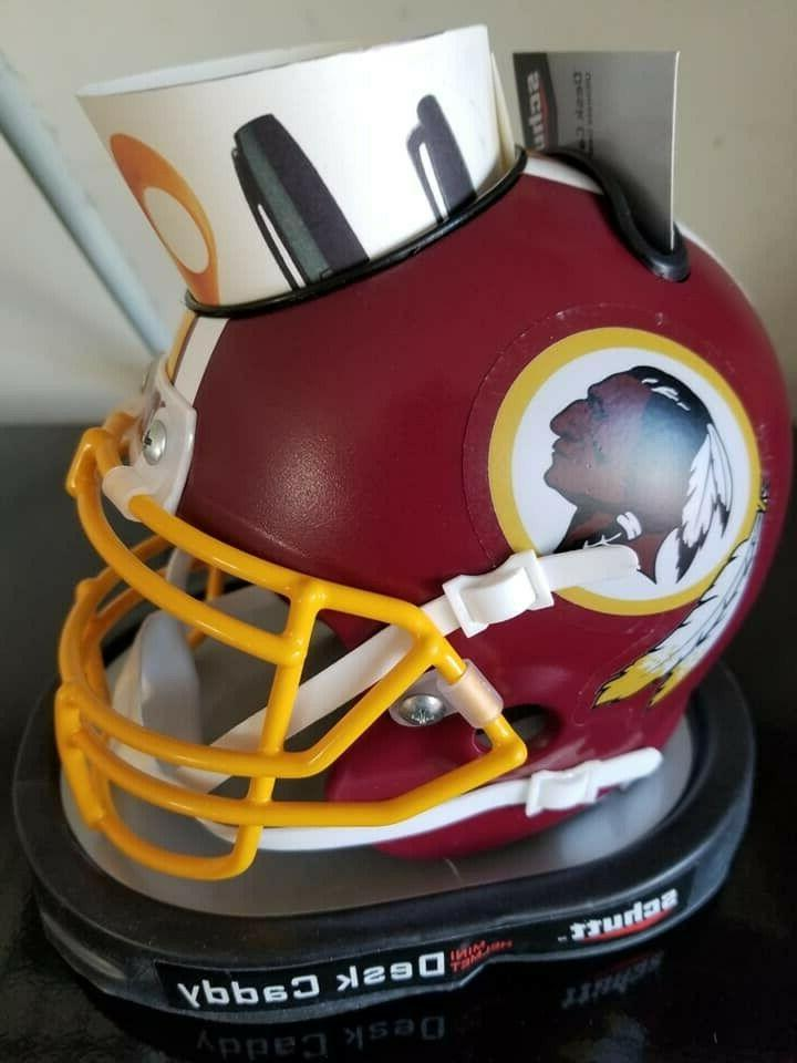 washington redskins mini football helmet desk caddy