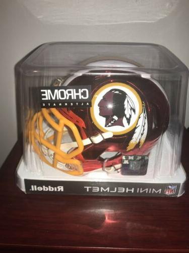 washington redskins speed mini helmet chrome alternate