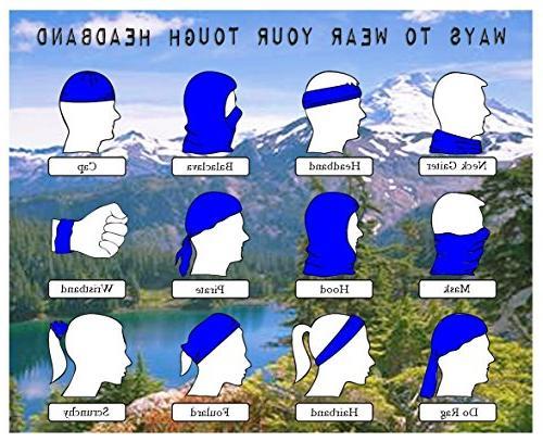White Magic Headband Mask Bandanas Outdoor Scarf,Balaclava,Helmet Liner,ATV/UTV Riding