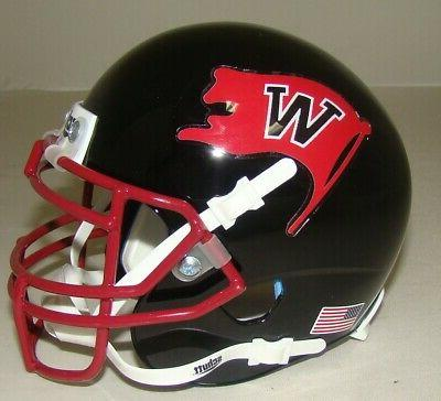 whitworth pirates mini authentic football helmet