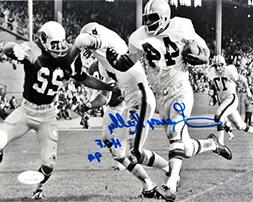Leroy Kelly Signed 8x10 Cleveland Browns BW Running With Bal
