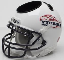 LIBERTY FLAMES NCAA Schutt Mini Football Helmet DESK CADDY
