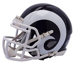 Los Angeles Rams White Horns and face mask Riddell Speed Min