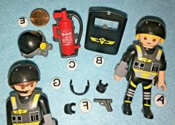 M~9365-CHOOSE 1 PLAYMOBIL Tactical Police Mini: SHIELD~GUN~H