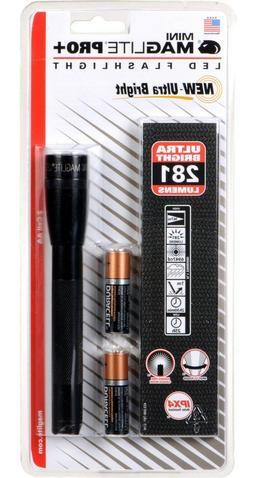 MAGLITE SP+P01H 2-AA Cell Mini PRO+ LED Flashlight + Holster