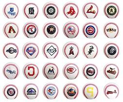 fb Set of 30 Major League Baseball Mini Baseballs. MLB Compl