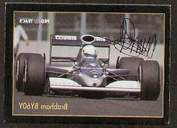 Martin Brundle signed autographed F1 Pro Trac's Card