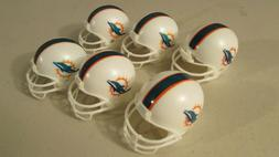 Miami Dolphins 6 pack mini gumball cake topper NFL helmets