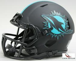 MIAMI DOLPHINS - Black Eclipse Riddell Speed Mini Helmet